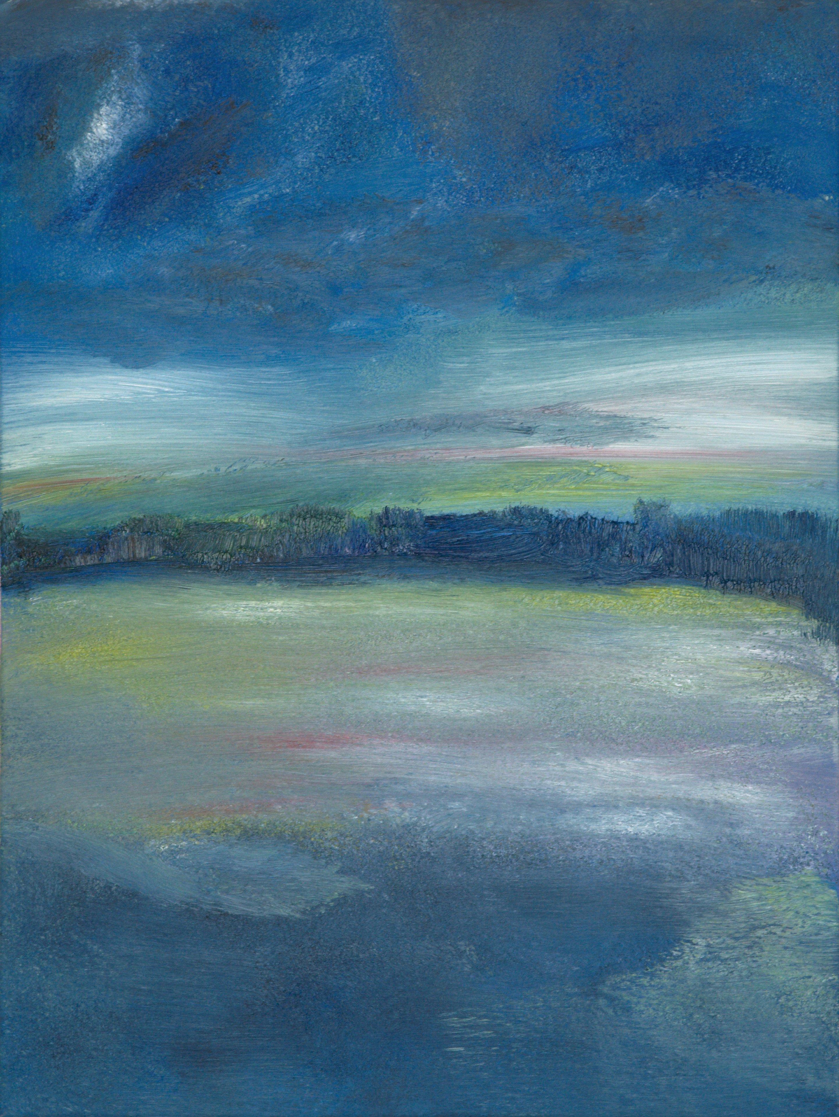 Marij Aarntzen, Schemering, olie op doek, 80 x 60 cm, 2012
