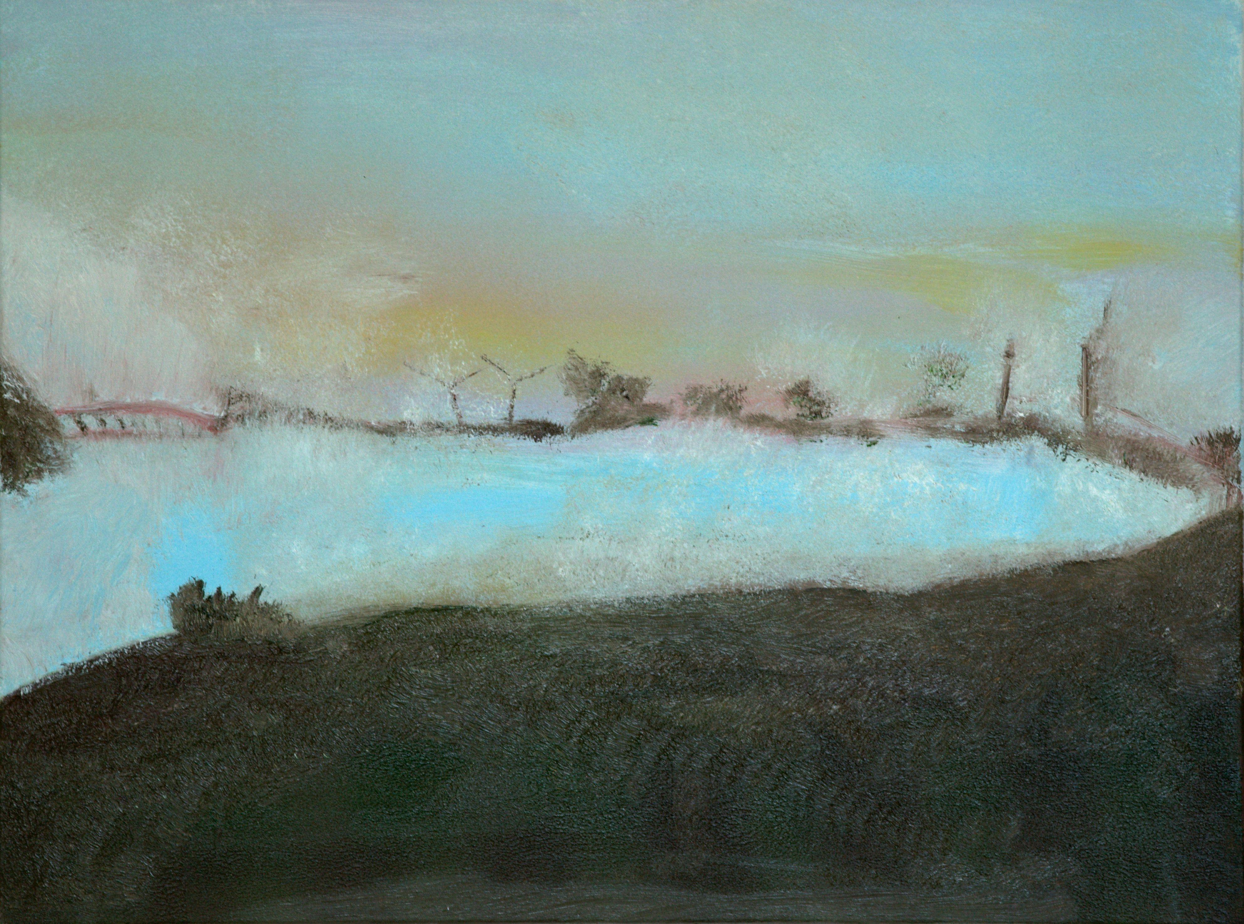 Marij Aarntzen, Windmolens, Zonder titel, olie op doek, 60 x 80 cm, 2012