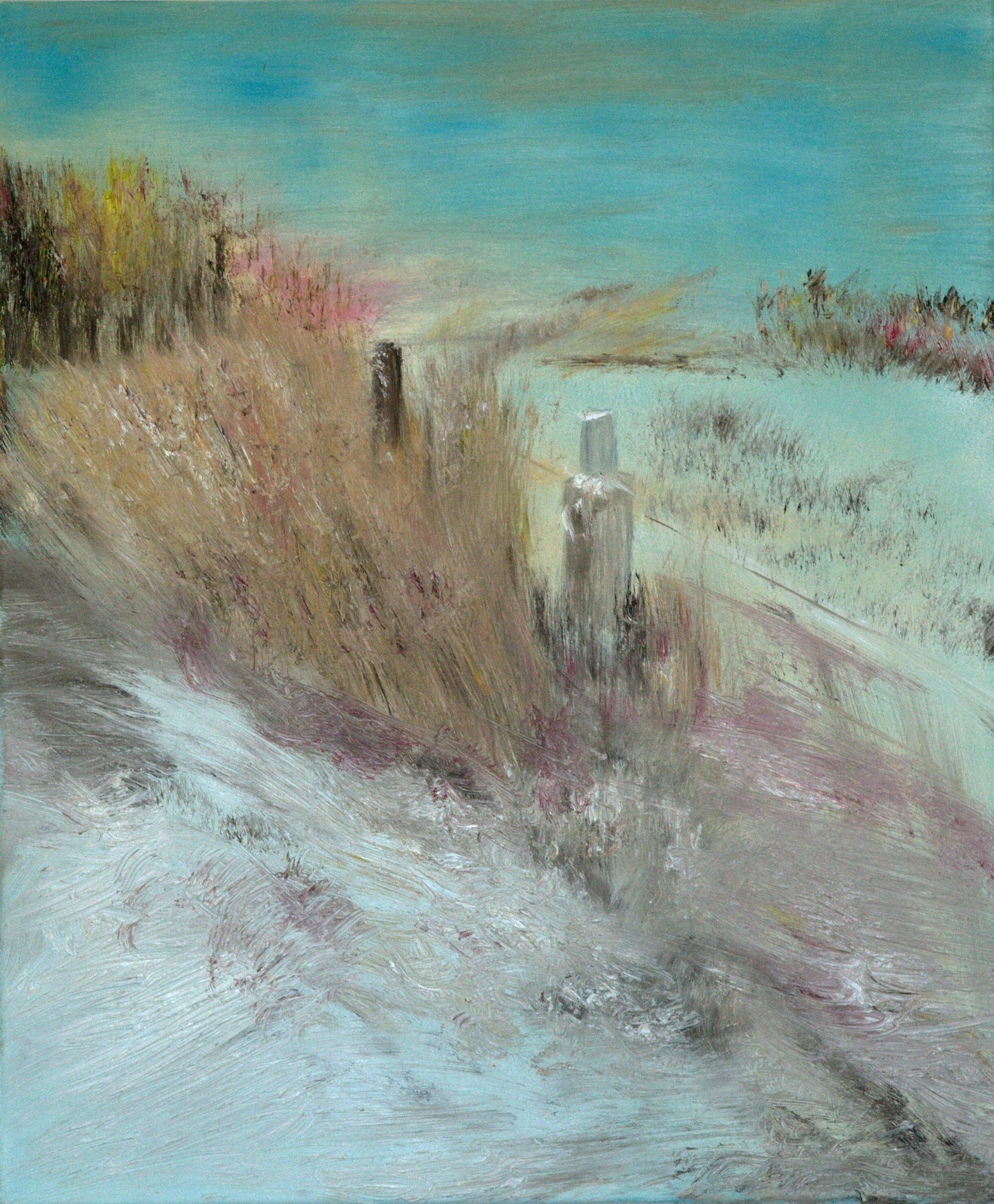 Marij Aarntzen, Winterlandschap, olie op doek, 50 x 60 cm, 2012