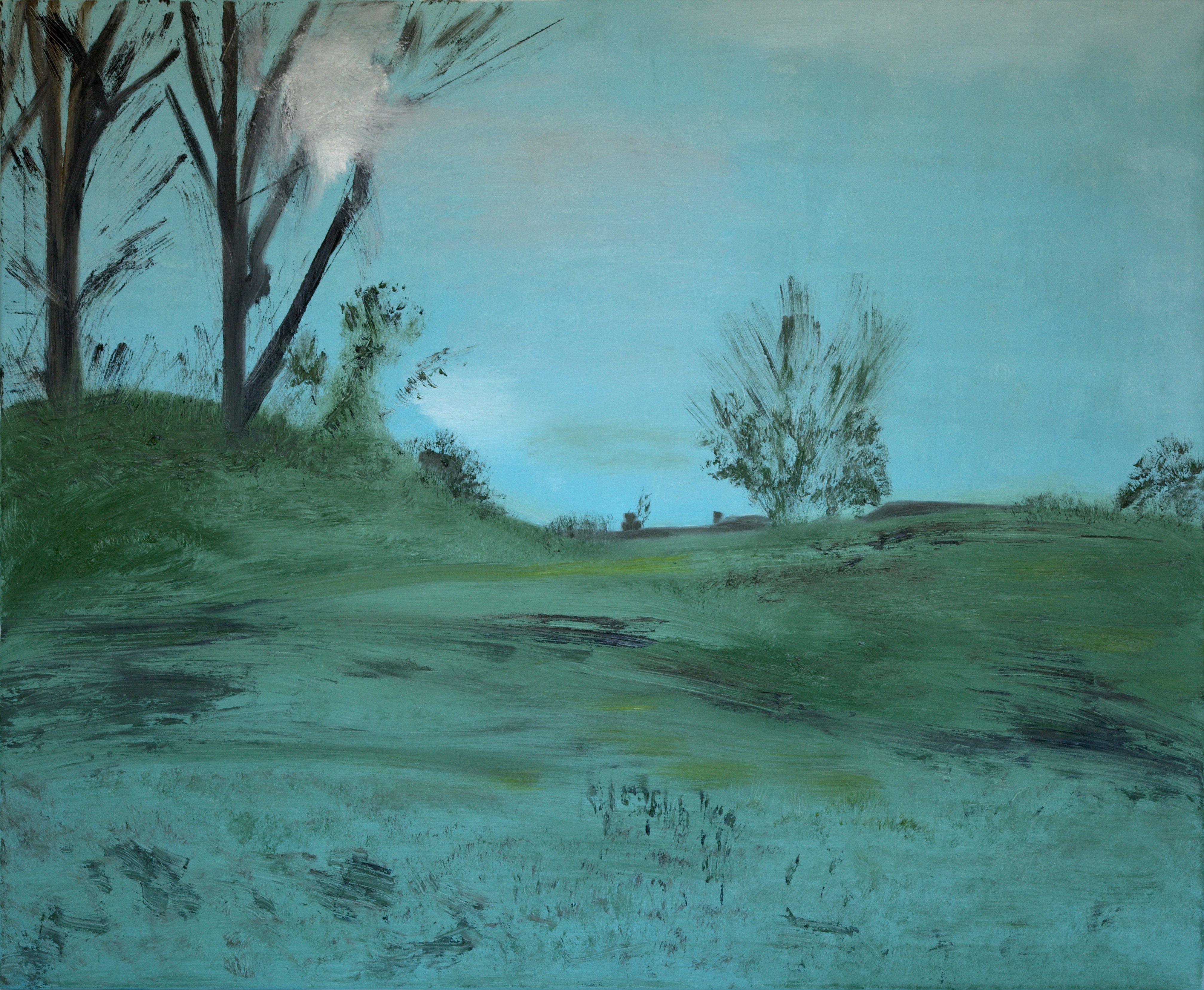 Marij Aarntzen, Zicht op Stokebrand, olie op doek, 90 x 110 cm, 2012