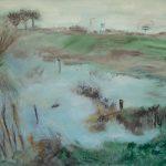 Marij Aarntzen, Uitzicht naar Voorst, olie op doek, 90 x 110 cm. 2012