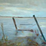 Marij Aarntzen, Hoog water, olie op doek, 90 x 110 cm, 2012