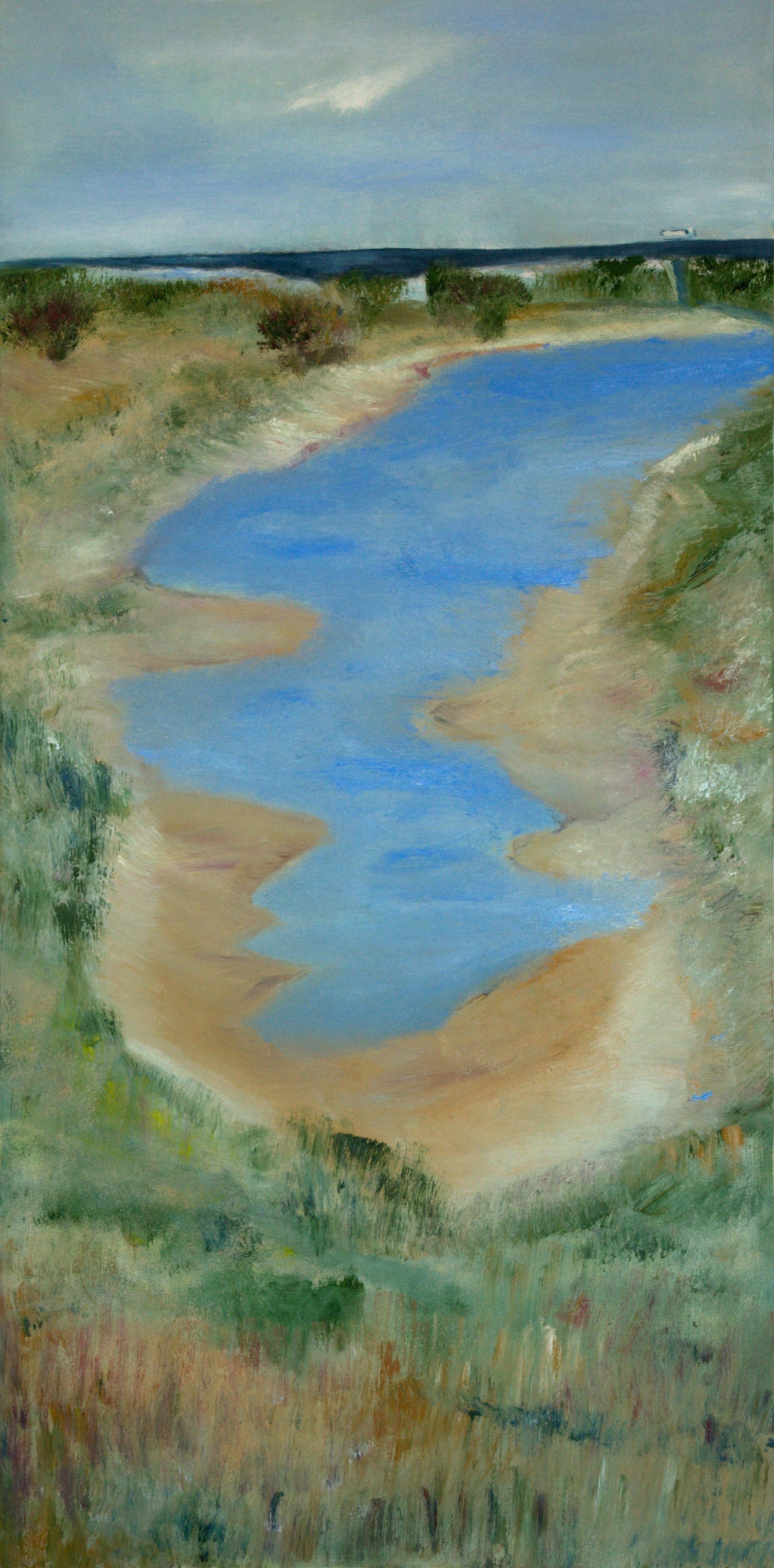 Marij Aarntzen, Landschap, olie op doek, 120 x 60 cm, 2012