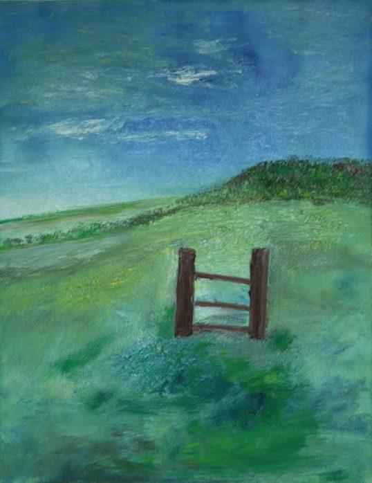 Marij Aarntzen, Zonder titel, olie op doek, 90 x 70 cm