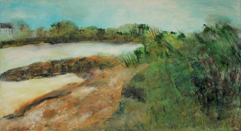 Marij Aarntzen, Vanaf de Hoven, olie op doek, 60 x 110 centimeter, 2010
