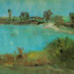 Marij Aarntzen, Richting Baak, olie op doek, 60 x 110 centimeter, 2010