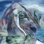 Marij Aarntzen, IJslands landschap, olie op doek, 1989