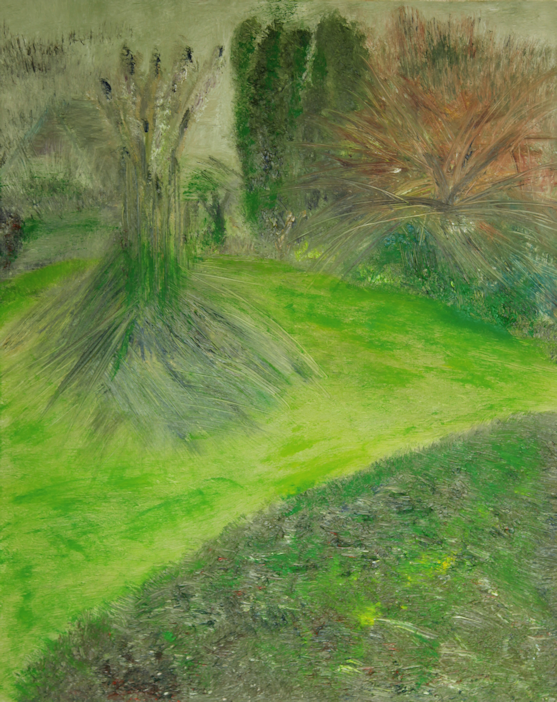 Marij Aarntzen, tuinen van Marij, olie op doek, 2020