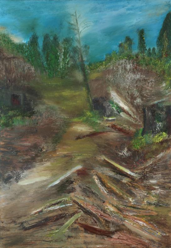 Marij Aarntzen, Schorskever Harz, olie op doek