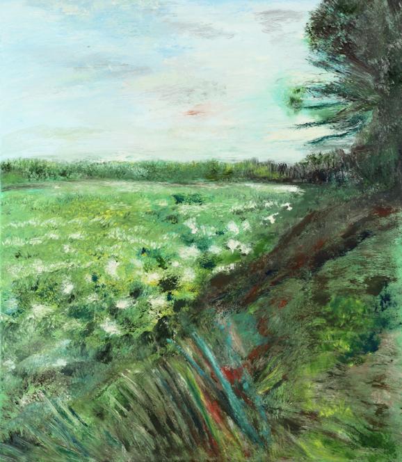 Marij Aarntzen, aardappelveld, olie op doek